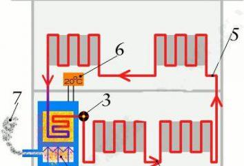 tuyau Schéma système de chauffage avec un câblage plus faible. Système de chauffage monotube d'une maison privée