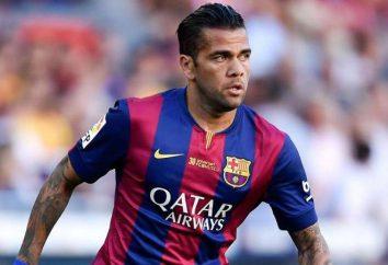 Futbolista Daniel Alves: mejor defensor contemporánea Derecho