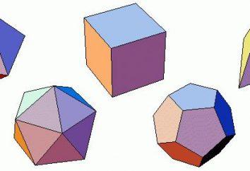 Los poliedros regulares: elementos de simetría y el área
