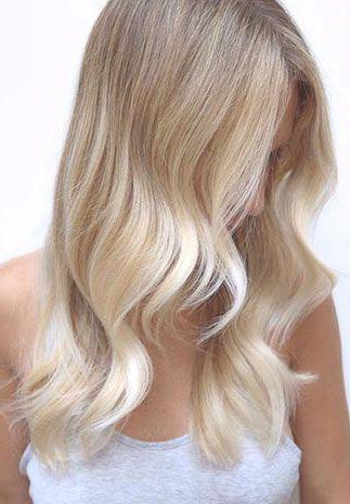 Sabbia Blond Attraente Colore Dei Capelli