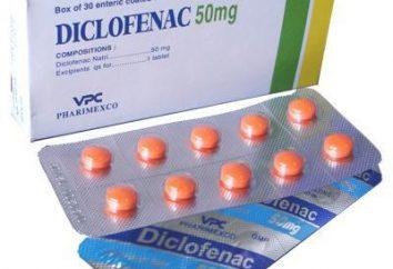 """""""Diklofenak"""" (tabletki): instrukcje użytkowania"""