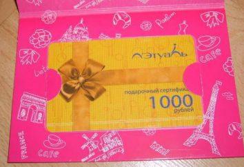 """Gift Certificate """"Letual"""" – o melhor presente para as mulheres"""