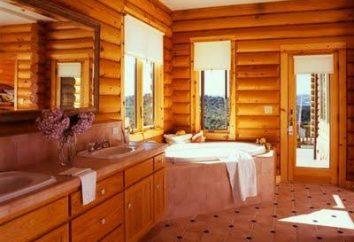 Wie das Badezimmer in Holzhäuser arrangieren
