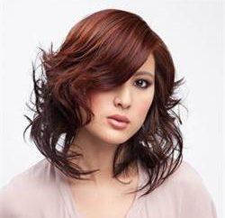 """cor do cabelo brilhante e discreto """"mogno"""""""
