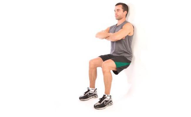 Exercice « chaise » le mur: ce que les muscles travaillent?