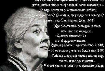 las mujeres aforismos Ranevskoy Fainy Georgievny, los hombres, sobre la vida y sobre sí mismos