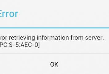 Error al recuperar datos de Mercado Juego del servidor. Cómo fijar?