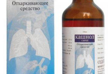 """""""Kashnol"""" (xarope): instruções de utilização, reais"""