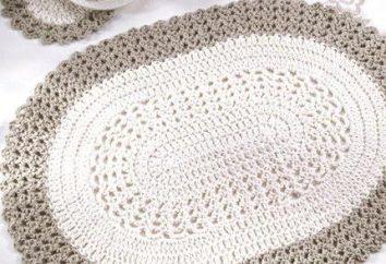 Oval crochet guardanapos: o esquema descrito para as pequenas e grandes guardanapos