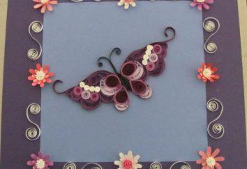 Schmetterling Quilling, oder wie die wunderbare Schöpfung der Natur aus Papier neu erstellen