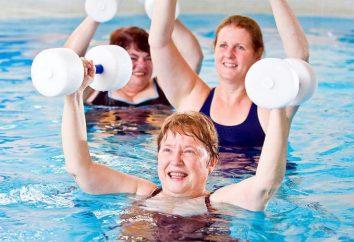 aerobik w wodzie: korzyści i przeciwwskazania, ćwiczenia do utraty wagi, a dla kobiet w ciąży. Aqua aerobik trener