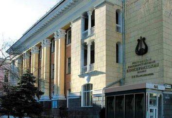 Rostov State Conservatory (RGC) do nich. Rachmaninow: wstęp, wydział, specjalność