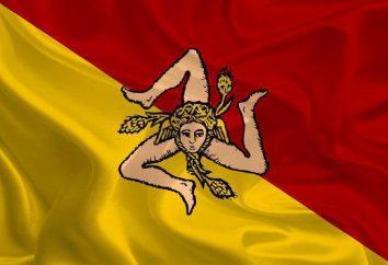 Bandera de Sicilia: descripción, historia y el simbolismo