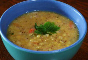 Zuppa di piselli senza carne: ricetta per la cottura, calorie