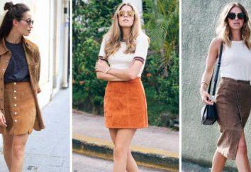 Suede Spódnica: style, w co się ubrać, zdjęcie