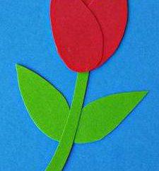 """Applique """"Tulips"""" de diferentes materiais"""
