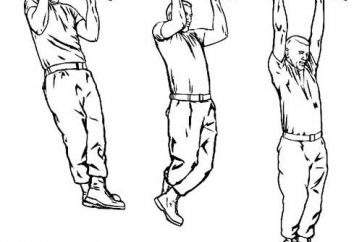 Program szkolenia na poziomym pasku i poręczach. Gimnastyka: ćwiczenia na nierównych barów i poziomym pasku