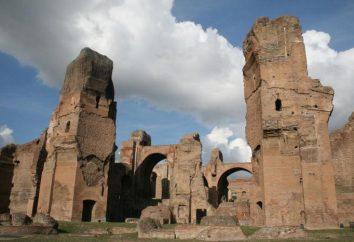 Septymiusza Bassianus Karakalli. Termy Karakalli cesarza: fotografia, historia, odbudowy, jak się tam dostać?