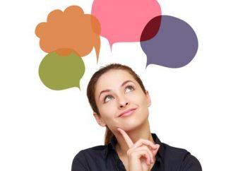 Modos de pensar e suas características: Tabela. características gerais do pensamento