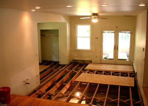 Come isolare il pavimento della casa di legno dal basso da soli