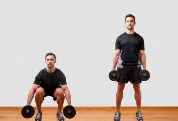 Exercices pour les jambes avec des haltères: squats, lunges. Complexe d'exercices, technique de mise en œuvre, recommandations