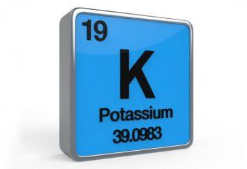Potassium: le taux de consommation quotidienne