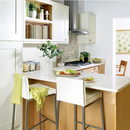 Bartheke: Größe Fotos. Standardabmessungen der Bar in der Küche