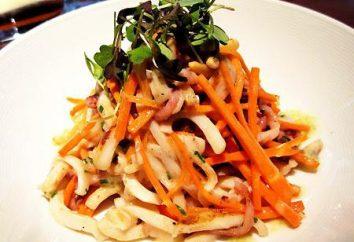 Calamares en coreano. Calamar, marinado en Corea