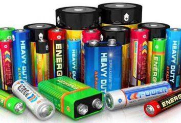 Tipos e baterias. tamanho Tipos de pilhas AA