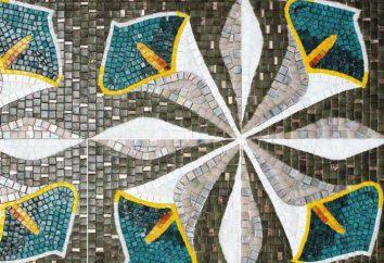 mosaico de vidro: tipos, características, aplicação