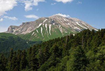 montagne Oshten: légende, hauteur