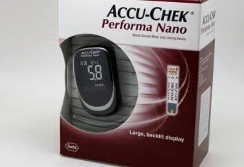 "Glucomètres ""Accu-Chek Performa Nano"": instruction, commentaires"