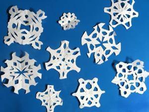 Pour fabriquer beau schéma flocon de neige peut penser à eux-mêmes