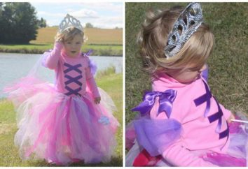 Cómo hacer el traje de Rapunzel para las niñas con sus manos