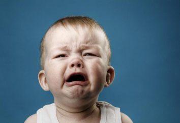 A criança está constantemente impertinente e chorar – o que fazer?