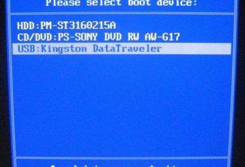 Os detalhes sobre como colocar a inicialização a partir da unidade flash na BIOS