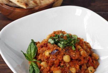 Wie ein köstliches Gemüseeintopf mit Zucchini kochen und Auberginen