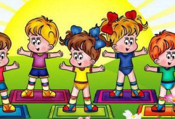 jogo de treinamento físico no grupo do meio do jardim de infância