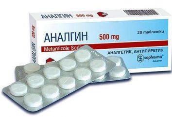 """La preparación """"Analgin"""" de un dolor de cabeza – cómo aplicar correctamente"""