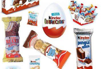 """""""Kinder Milch Slice"""" und andere Arten von Produkten"""