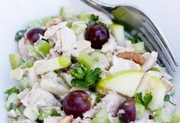 Recette de salade avec poitrine de poulet – quatre variantes
