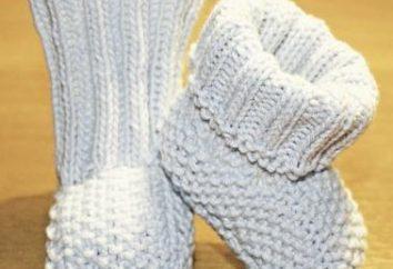 botines de punto tricotado. Muy fácil y rápida