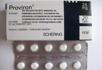 """""""Proviron"""": instrukcje użytkowania. analogi narkotyków"""