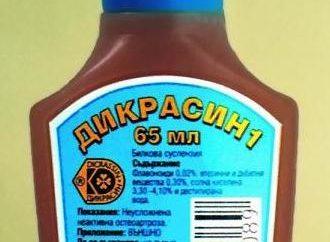 """""""Dikrasin"""": instruções de uso, bens"""