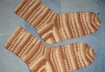 Jak na drutach skarpety haczyk?