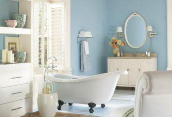 A pintura para o banheiro: apresenta uma cobertura