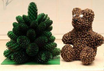 Figuras de cones com as mãos. O que pode ser feito a partir dos cones?