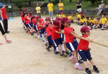 Freizeitsport in der älteren Gruppe von Kindergärten