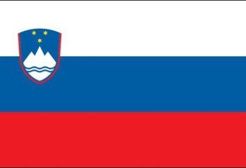 Les armoiries et le drapeau de la Slovénie