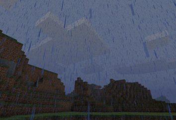 Come rimuovere la pioggia in Minecraft, e se per farlo?